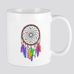 Dreamcatcher Rainbow Feathers Mugs