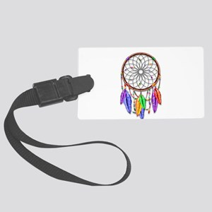 Dreamcatcher Rainbow Feathers Large Luggage Tag