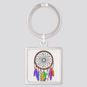 Dreamcatcher Rainbow Feathers Keychains