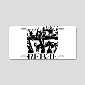 Rebel Aluminum License Plate