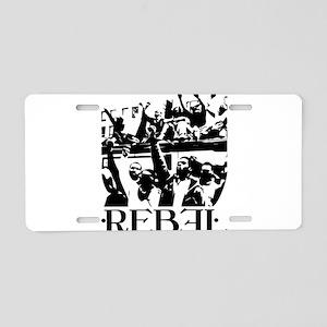 Rebel Aluminum License Plate