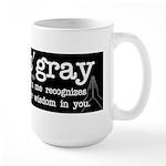 Namas'gray Large Black Mugs