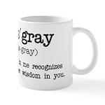 Namas' Gray (white) Mugs