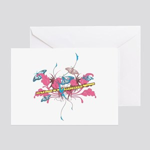 Butterfly Flute Greeting Card