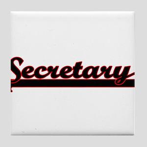 Secretary Classic Job Design Tile Coaster