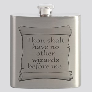 No Other Wizards Before Me Flask
