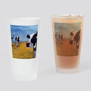 Cow World Drinking Glass