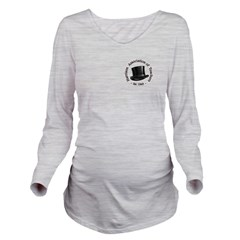 Hat Logo Long Sleeve Maternity T-Shirt