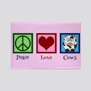 Pink Cow Rectangle Magnet