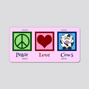 Pink Cow Aluminum License Plate