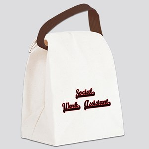 Social Work Assistant Classic Job Canvas Lunch Bag