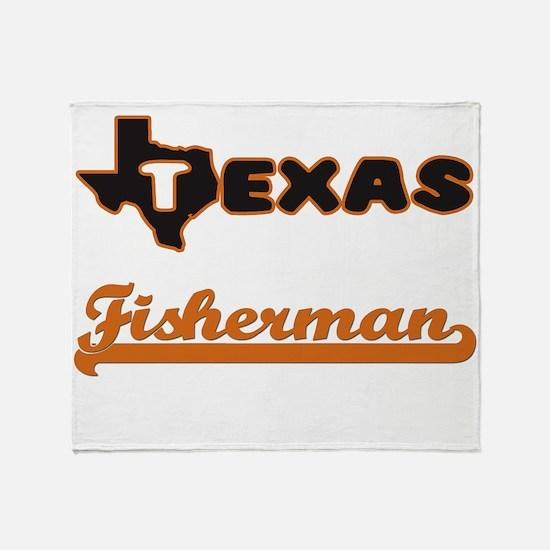 Texas Fisherman Throw Blanket