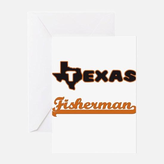 Texas Fisherman Greeting Cards
