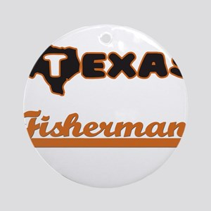 Texas Fisherman Ornament (Round)