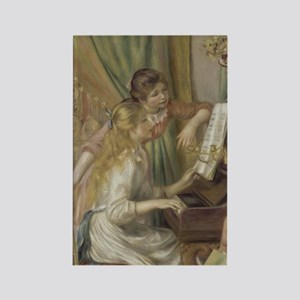 Young Girls at the Piano by Augus Rectangle Magnet