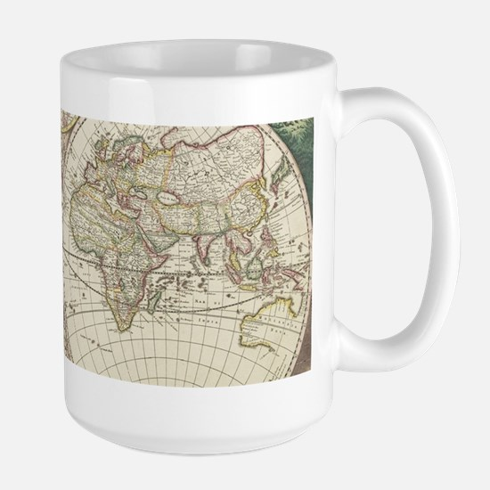 Vintage Map of The World (1680) Mugs