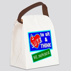 Sit And Think Canvas Lunch Bag
