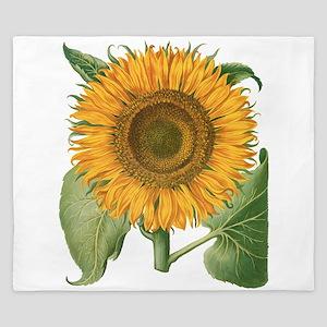Vintage Sunflower Basilius Besler King Duvet