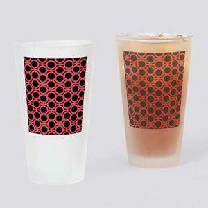 Bubblegum Pink and Black Eyelets Drinking Glass