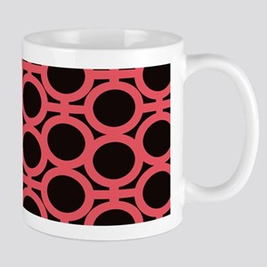 Bubblegum Pink and Black Eyelets Mugs