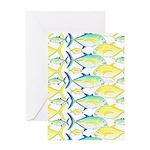 Trevally Pattern 1 Greeting Cards