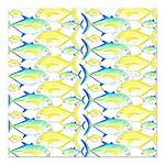 Trevally Pattern 1 Square Car Magnet 3
