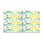 Trevally Pattern 1 Rectangle Car Magnet