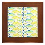 Trevally Pattern 1 Framed Tile