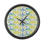 Trevally Pattern 1 Large Wall Clock