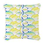 Trevally Pattern 1 Woven Throw Pillow