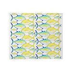 Trevally Pattern 1 Throw Blanket