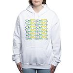 Trevally Pattern 1 Women's Hooded Sweatshirt