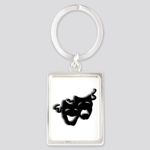 Comedy and Tragedy Theater Masks Keychains