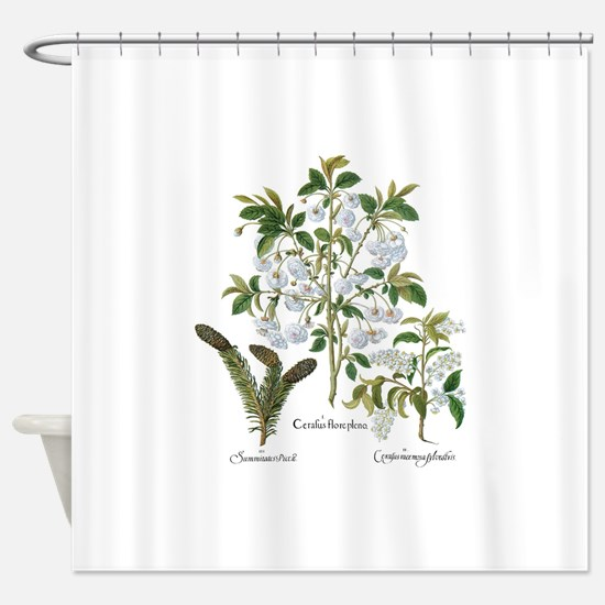 Vintage Flowers by Basilius Besler Shower Curtain