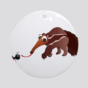 Anteater Meets His Lunch Ornament (Round)