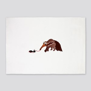 Anteater Meets His Lunch 5'x7'Area Rug