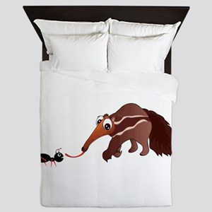 Anteater Meets His Lunch Queen Duvet