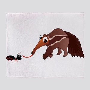 Anteater Meets His Lunch Throw Blanket