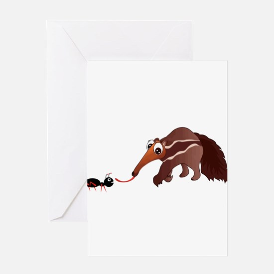 Anteater Meets His Lunch Greeting Cards