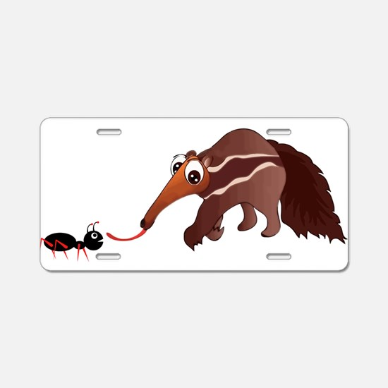 Anteater Meets His Lunch Aluminum License Plate