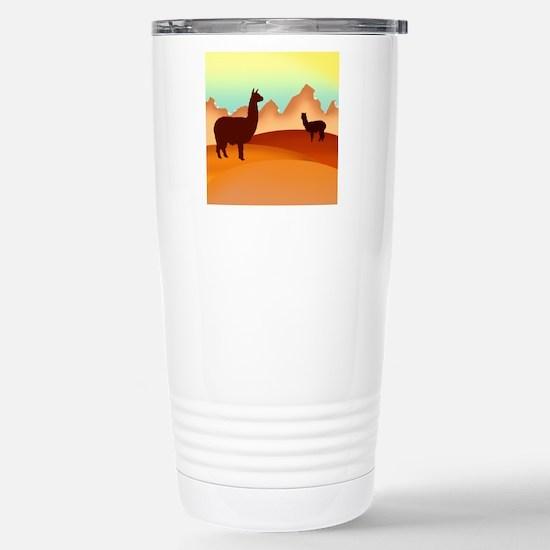 2 alpacas 2.png Travel Mug