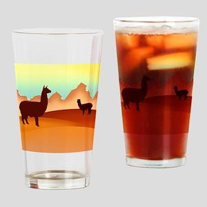2 alpacas 2 Drinking Glass