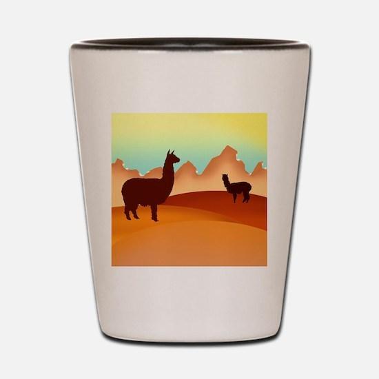 2 alpacas 2.png Shot Glass