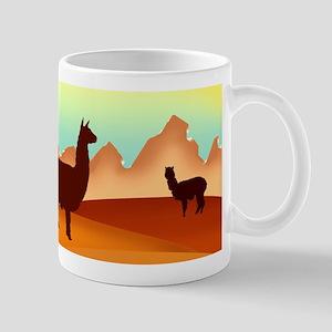 2 alpacas 2 Mugs