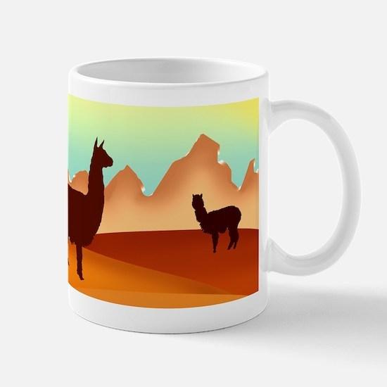2 alpacas 2.png Mugs