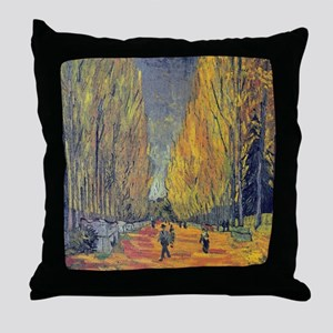 Les Alyscamps by Vincent Van Gogh Throw Pillow