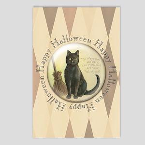 TLK003 Halloween Cat Postcards (Package of 8)