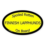 Spoiled Finnish Lapphunds On Board Oval Sticker