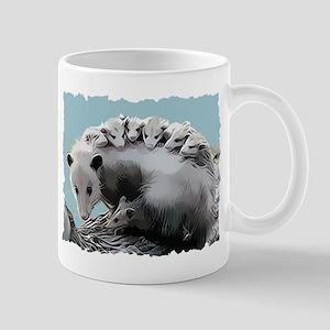 Possum Family on a Log Mug