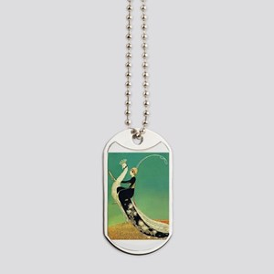 VOGUE - Riding a Peacock Dog Tags